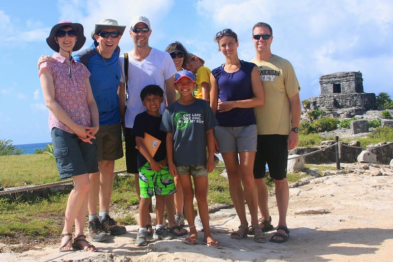 The crew at Tulum Ruins