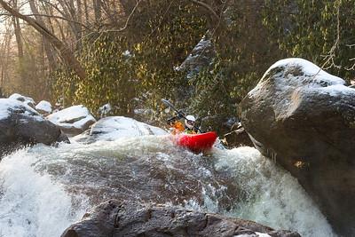31754 Whitewater  kayaking Decker's Creek State Scenes February 2016