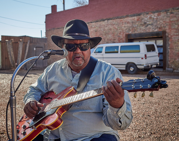 Route 66 - street singer, Winslow, Arizona