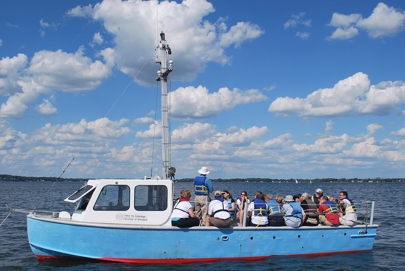 It was a beautiful day for a trip out on Lake Mendota.