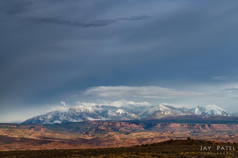 La Sal Mountains Overlook, Arches National Park, Utah