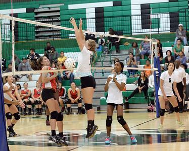 Quick Game Shots-SPHS Girls Varsity Volleyball /Woodbridge High School (H) 9/13/2014