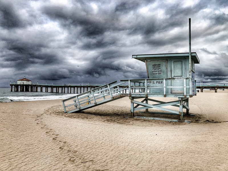 """Storm Clouds over Manhattan Beach"""