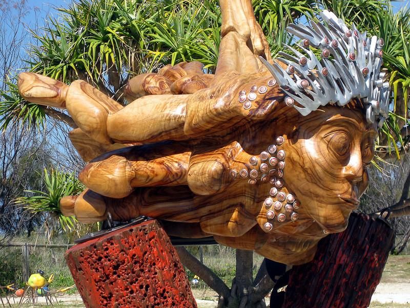 Minneta, by Carlos Sanchez - SWELL Sculpture Festival, Currumbin,  http://www.swellsculpture.com.au/ 12 September, 2008