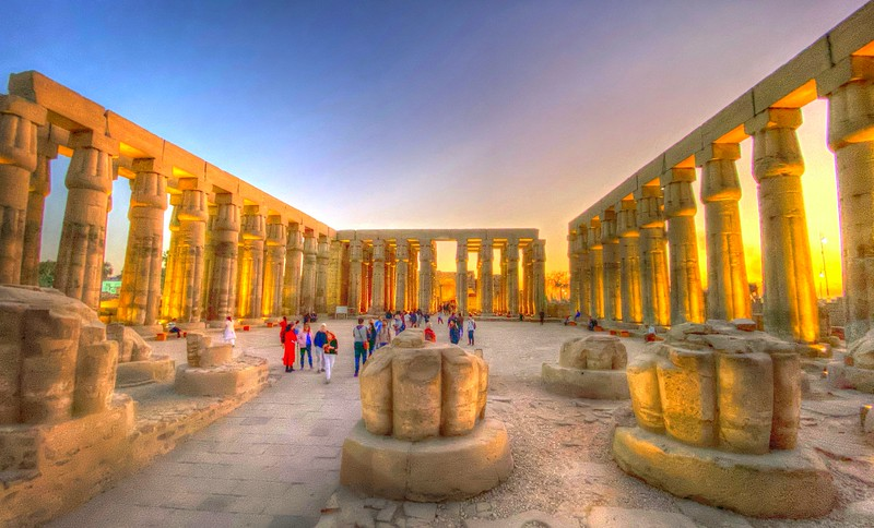 The Great Sun Court of Amenhotep III - Luxor Temple