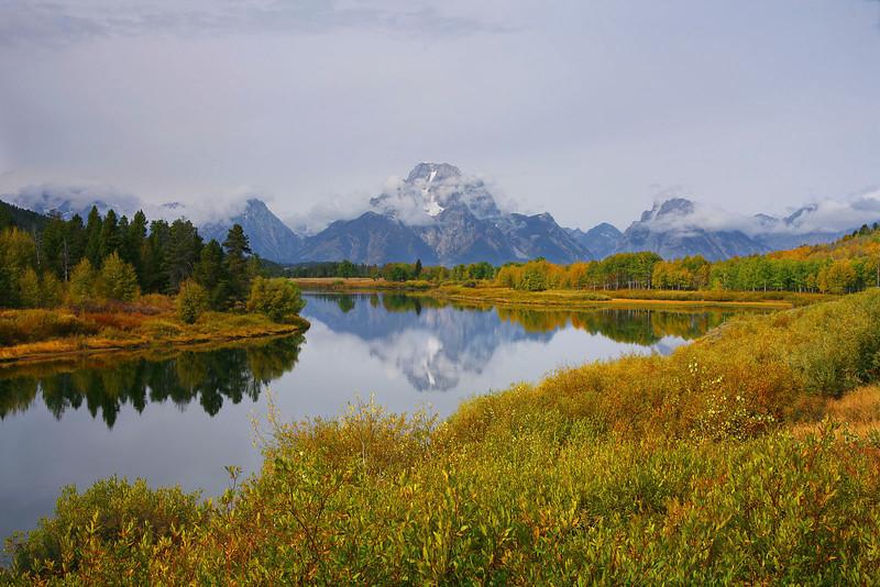 Fall at Oxbow Bend, Grand Teton NP, Wyoming