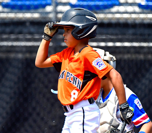 8/7/2019 Mike Orazzi | Staff Pennsylvania's Eric Foster Jr (8) during Wednesday's Eastern Regional Little League Baseball game with New Jersey at Breen Field in Bristol.