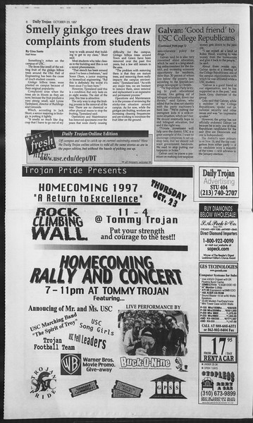 Daily Trojan, Vol. 132, No. 39, October 23, 1997