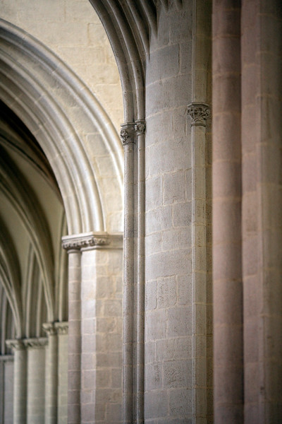 Architectonic detail, Saint-Corentin Cathedral, town of Quimper, departament of Finistere, region of Brittany, France