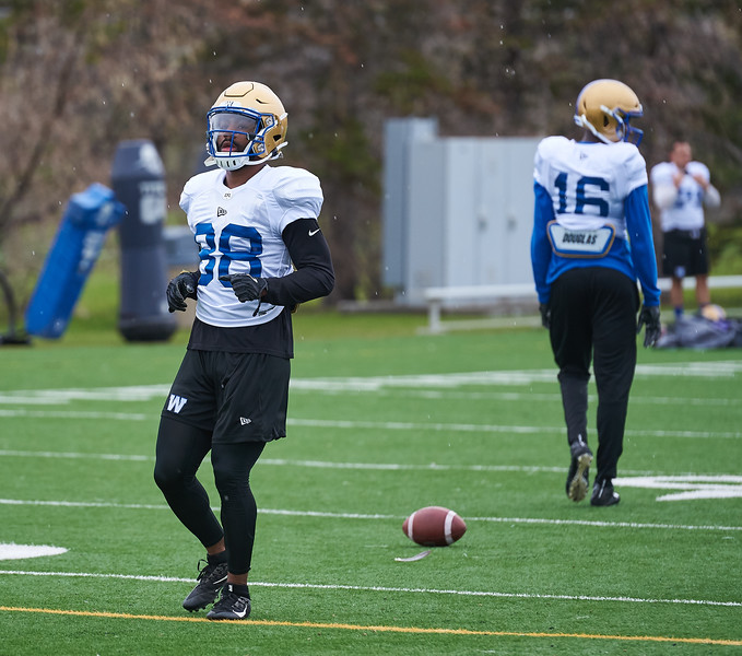 #88 Rasheed Bailey during Winnipeg Blue Bombers rookie camp Wednesday May 15, 2019.