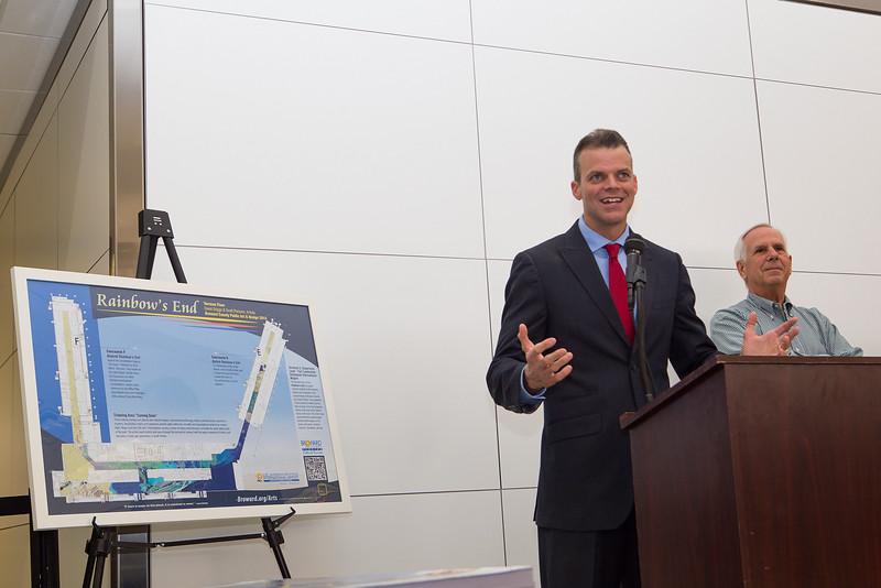Mayor Marty Kiar,  Rainbow's End @  Fort Lauderdale-Hollywood International Airport