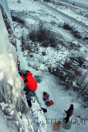Portage Ice Climbing 12/23/07