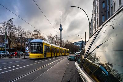 Reflection of Berliner Fernsehturm.