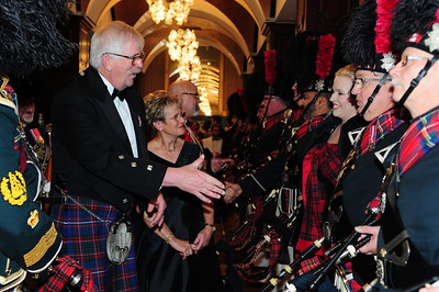 Inspection of the Black Watch Pipes and Drums