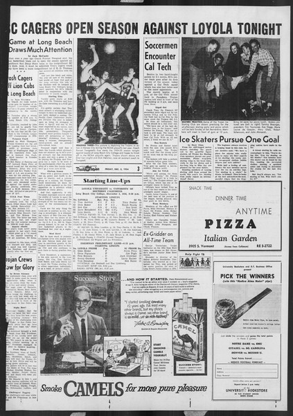 Daily Trojan, Vol. 46, No. 54, December 03, 1954