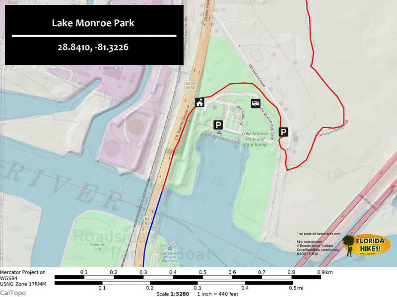 Lake Monroe Park Map