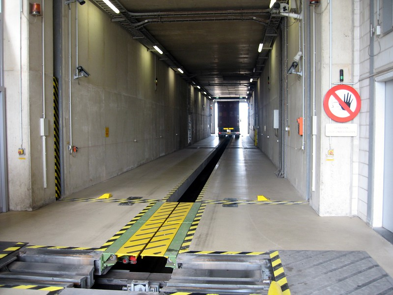 Nuclear scanning tunnel operated by the Dutch Customs Administration at the Port of Rotterdam