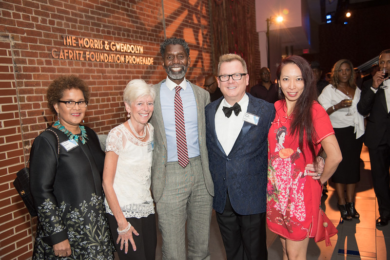 Sherry Bellamy, Jane Lang, Anwar Saleem, Doug Yeuell, Wui Ping Yap, Atlas Performing Arts Center, Destination Atlas Party for a Purpose Gala, October 6, 2017. Photo by Ben Droz.