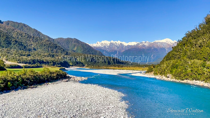 The blue waters of the Whataroa