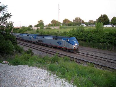 Amtrak Trains and Station - La Plata, MO