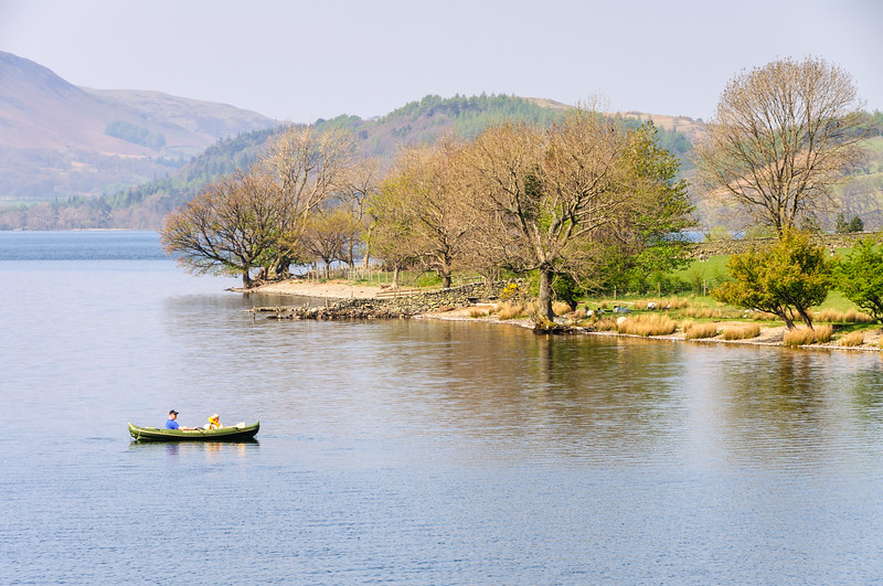 Rowing boat on Crummock Water