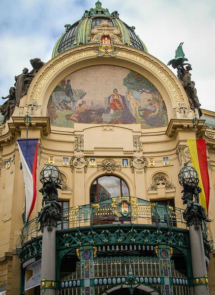 "Prague: Nove Mesto (""New Town""): Municipal Hall"