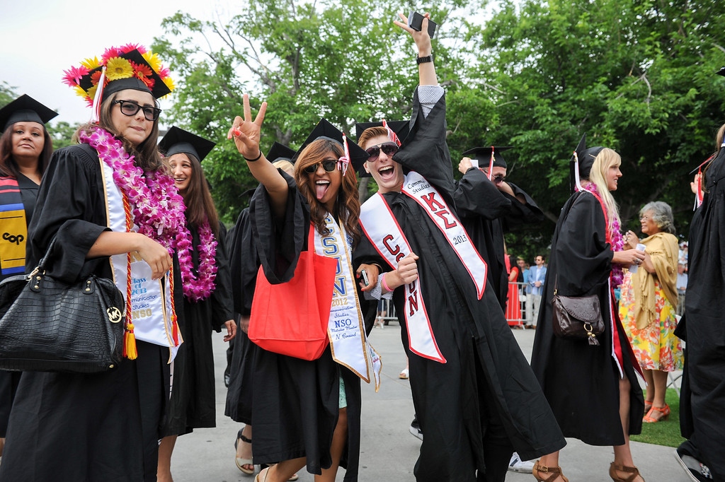 . Happy graduates at the CSUN the commencement ceremony, Tuesday, May 21, 2013. (Michael Owen Baker/L.A. Daily News)