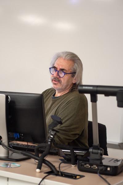 Stefan Sencerz gives his presentation on philosophy.