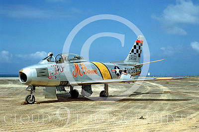 """U.S. Air Force North American Aviation F-86 Sabre MiG Killers Airplane Pictures [NOTE: A """"MiG Killer"""" is a US Armed Forces Airplane With """"Kill Markings"""" That A Pilot Used to Shoot Down an Enemy Airplane.]"""