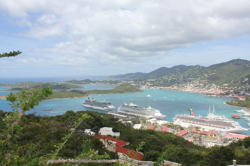 View from the top of 99 Steps, St Thomas, USVI