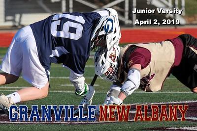 2019 Junior Varsity Granville at New Albany (04-02-19)