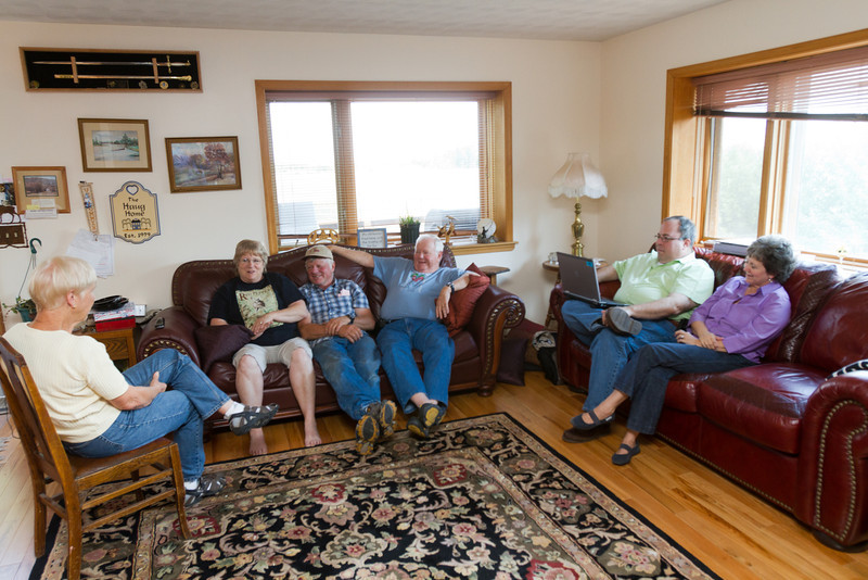 After leaving our stuff at the cabin we returned to Haug Ranch to await the arrival of more cousins. Janet, Mary, Dave, David, Mike, Teri