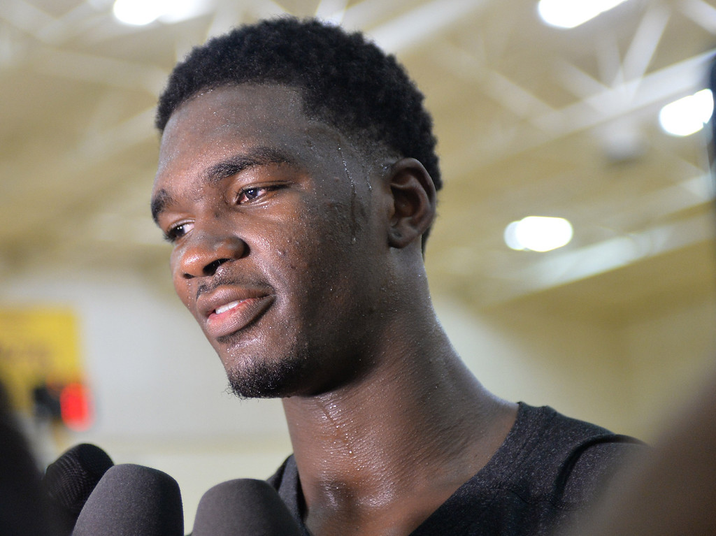 . Lakers pre-draft workout at Toyota Sports Center Wednesday June 4, 2014.  Noah Vonleh,Indiana University     Photo By  Robert Casillas / Daily Breeze