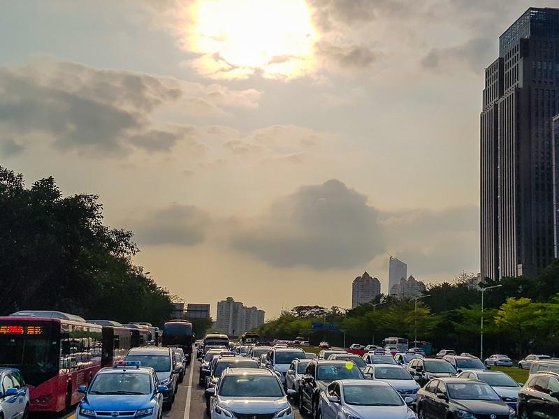 China traffic city