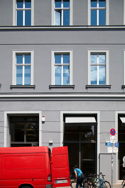 Building on Auguststrasse, Berlin, Germany