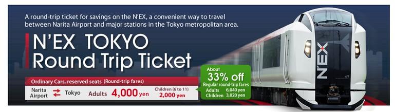 Getting from Narita to Shinjuku via Narita Express (N'EX)