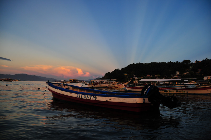 Sunset over Sabang Bay