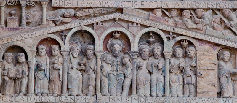 Abbey Church of Saint Foy Tympanum, Abraham and the Saved