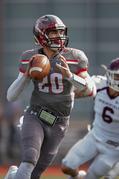 Taken at an NCAA Division 3 Football game between the Pride of Springfield and the Engineers of Worcester Polytechnic Institute (WPI) at Alumni Field on the WPI campus in Worcester MA played on 9-22-2018. The final score was 14-17 to Sprinfield.