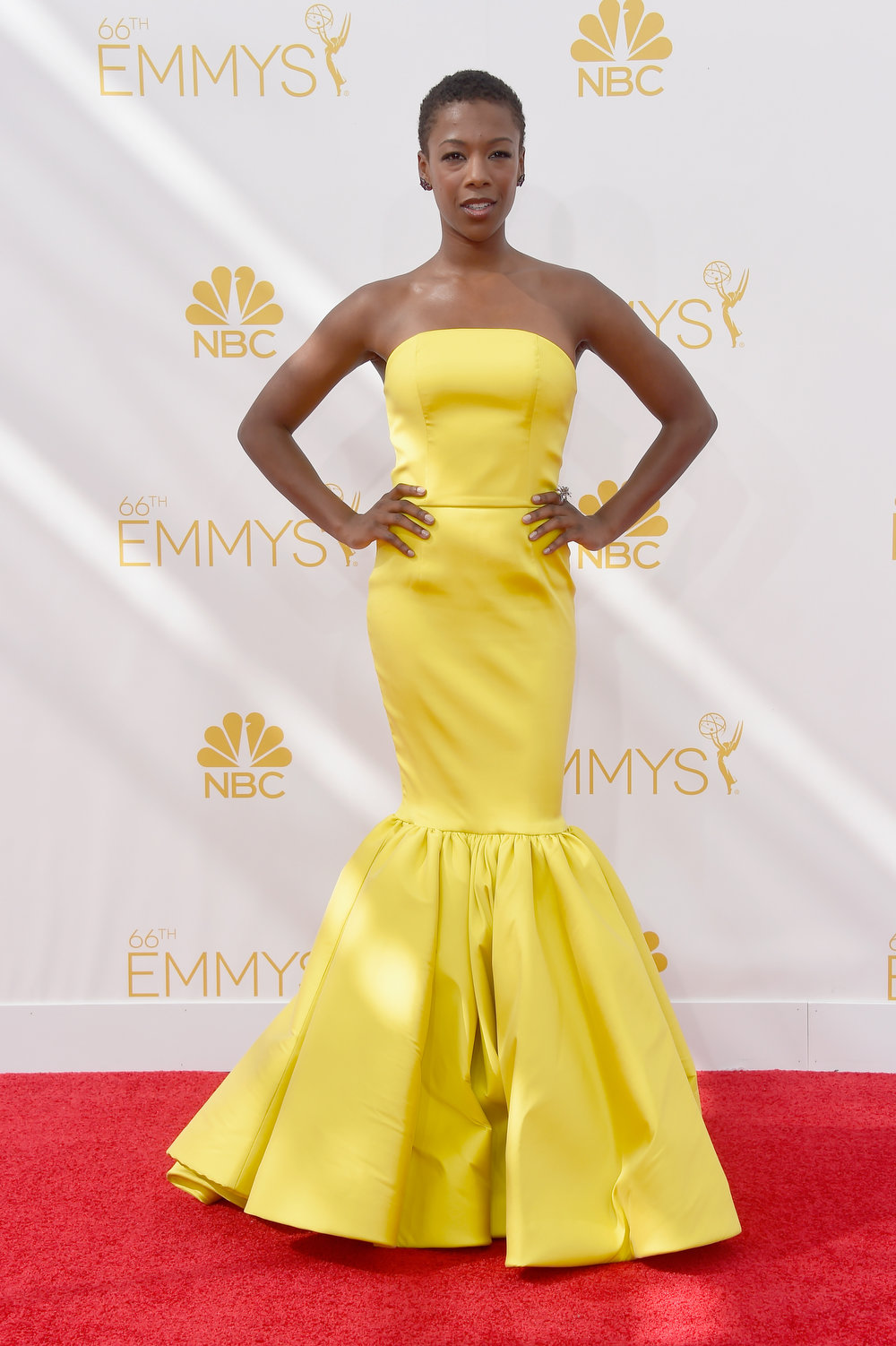 . Actress Samira Wiley attends the 66th Annual Primetime Emmy Awards held at Nokia Theatre L.A. Live on August 25, 2014 in Los Angeles, California.  (Photo by Frazer Harrison/Getty Images)