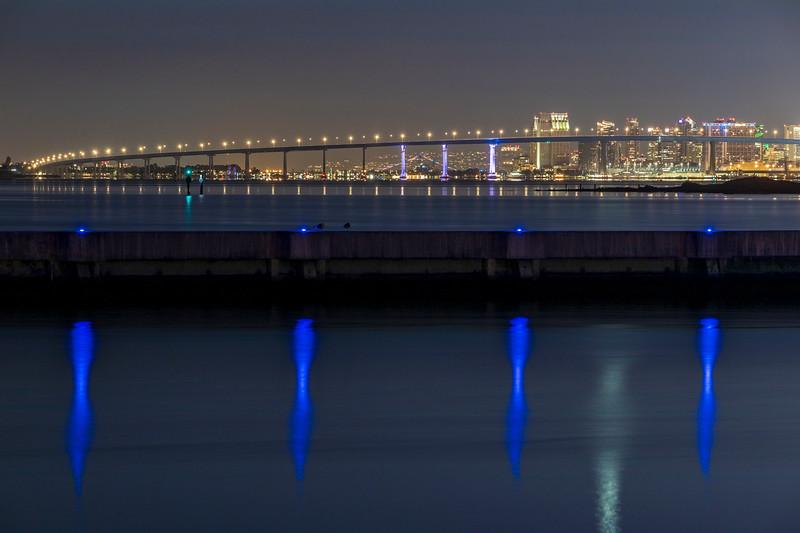San Diego-Coronado Bay Bridge Lighting Test.