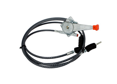 JCB 3CX 4CX SERIES HAND THROTTLE CABLE COMPLETE WITH HANDLE 3200MM LONG