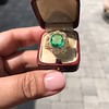 5.34ctw Emerald and Old Mine Cut Diamond Cluster Ring 17