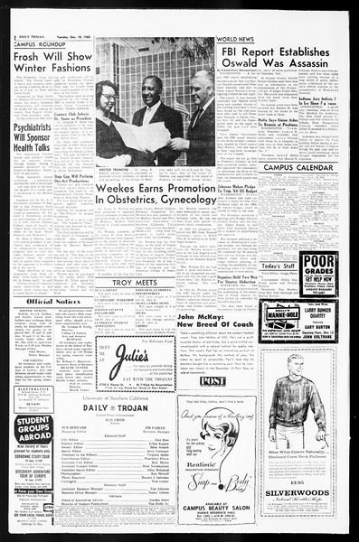 Daily Trojan, Vol. 55, No. 52, December 10, 1963