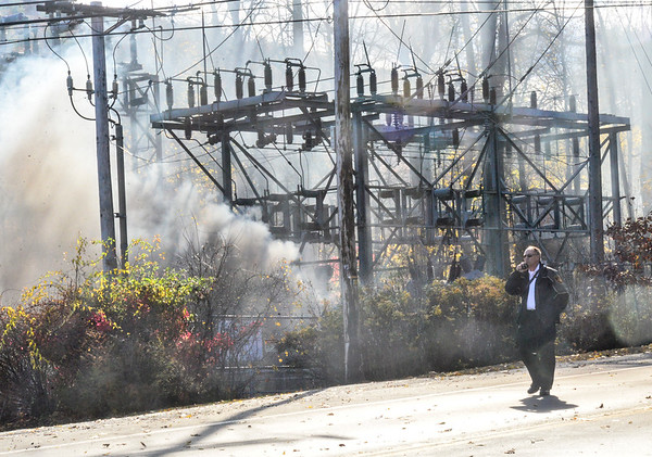 Fire at power substation -110119