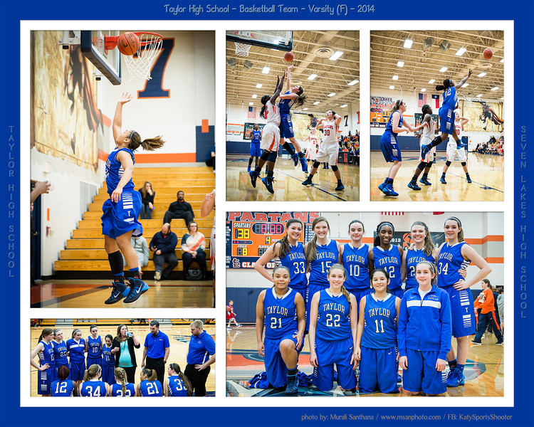 01-17-2014 - Basketball (F) - Taylor High School VS Seven Lakes High School