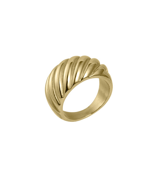 Croissant ring , Gold