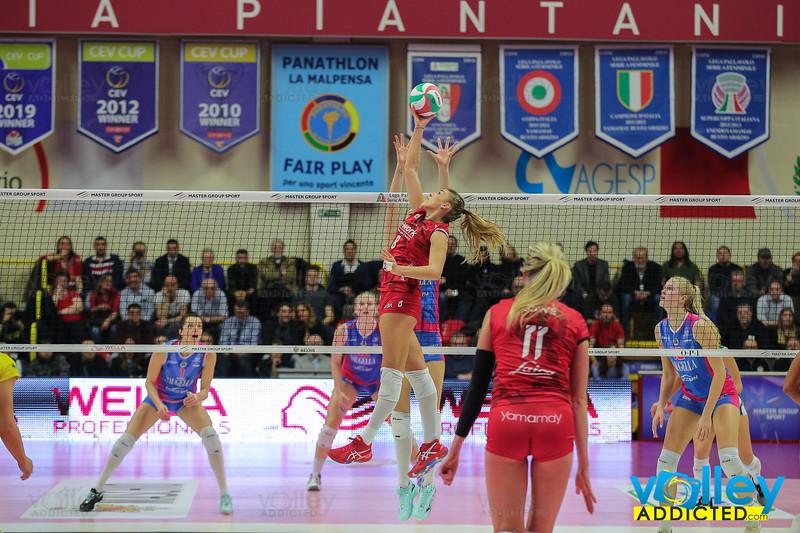 UNET E-WORK BUSTO ARSIZIO 3 - SAUGELLA MONZA 0 Semifinale Coppa Italia A1f PalaYamamay, Busto Arsizio (VA) - 1 febbraio 2020