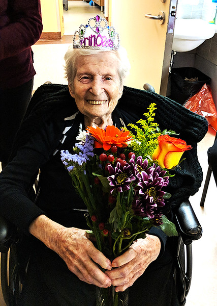 Rachel Zibula at 100 Years Old (Photograph by Kevin Lock with Permission)