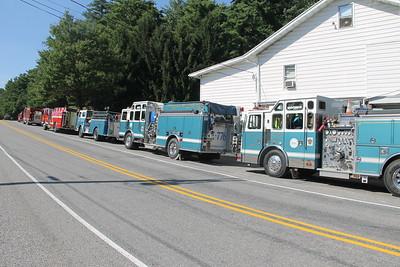 Tuscarora Fire Company Truck, Apparatus Parade, Tuscarora (7-26-2014)